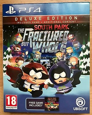 South Park The Fractured But Whole Deluxe Edition Sony PS4 Game with Postcards