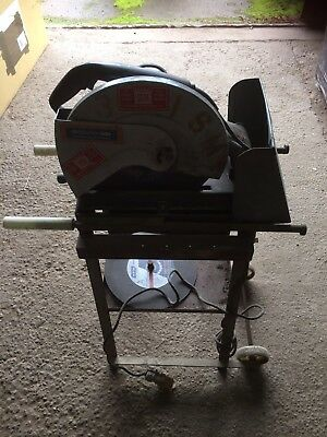 Everlution 500 METAL CUT OFF/ CHOP SAW fixed to stand.