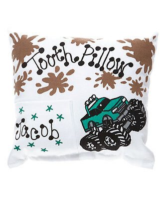 Personalized Monster Truck Green Tooth Fairy Pillow