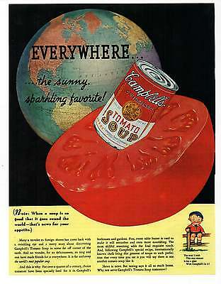 "CAMPBELL'S TOMATO SOUP AD Repro 1930's Advertisement Art For Framing 7.75"" x 10"""