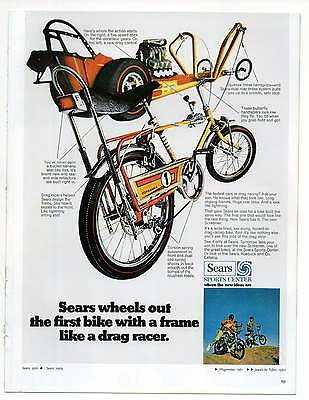 "SEARS BICYCLE AD, Repro 1960's Advertisement Art For Framing, 8.5"" x 6.5"""