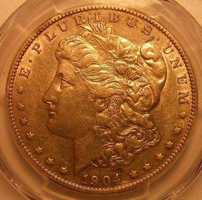 ALMOST UNCIRCULATED 1904 S  Morgan Silver Dollar PCGS AU 50