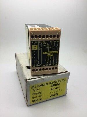NEW JOKAB SAFETY JSBR4 Safety Relay 24vDC 24Volts