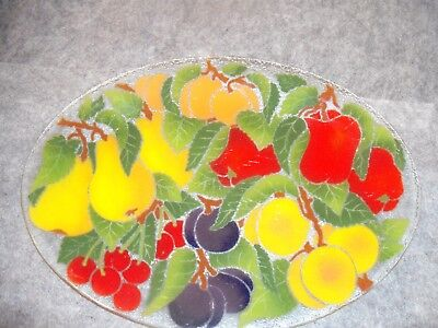 Large 17 x 12 Peggy Karr Platter-Fruit Pattern