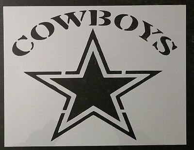 "Cowboys Dallas Star 11"" x 8.5"" Custom Stencil FAST FREE SHIPPING"