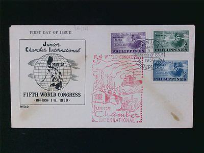 PHILIPINAS PHILIPPINES 1950 FDC SCHIFFE SHIPS INDUSTRY TRAKTOR TRACTOR c6160