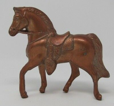 Vintage Metal Horse Figurine Brass Bronze Copper Color Made in the USA