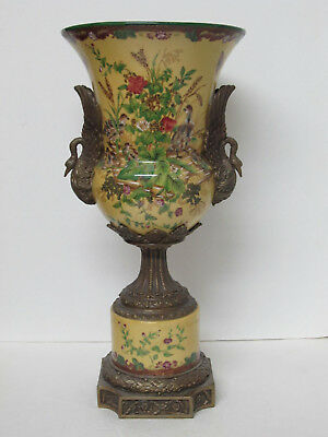 Fine Old or Antique Chinese Export Huarong Tang Zhi Porcelain with Bronze Vase