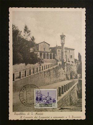 SAN MARINO MK 1949 KLOSTER MONASTERY MAXIMUMKARTE CARTE MAXIMUM CARD MC CM c7908