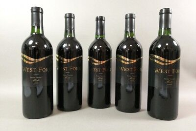 5 Flaschen Rotwein West Fork Napa Valley Merlot 2000 USA Amerika 75 cl