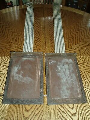 Pair Cast Iron Foot Pedal Frame - Pump Organ Antique Parts Crafts Re-Purpose