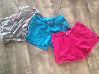 Lot of 3 Lands End Girls Pink/Blue/Grey Shorts - Size M(10-12)