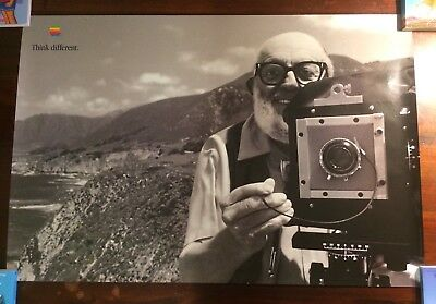 """Apple Computer Think Different Advertising Poster 1998 -  Ansel Adams 24""""X36"""""""