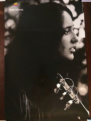 """Genuine Apple Computer - Think Different - Advertising Poster Joan Baez 24""""x36"""""""