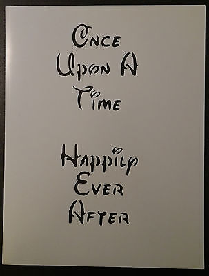 "Once Upon A Time Happily Ever After Disney Font 8.5"" x 11"" Stencil FREE SHIPPING"