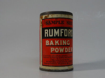 Early Rumford Tin Baking Powder Sample Size Height 2 3/8""