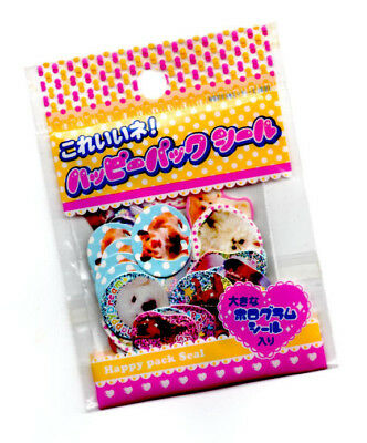 Rare Happy Pack Seal Sticker Sack stickers flakes Kawaii Puppy Dogs Happy Dream