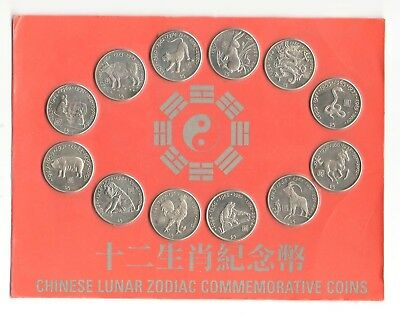 Chinese Lunar Zodiac Commemorative Coins issued by National Bank of Liberia