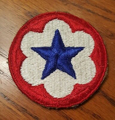 WW 2 U S Army Service Forces  Cut Edge Felt Patch