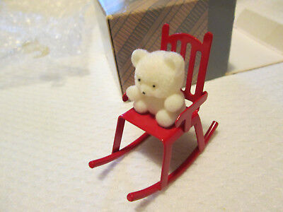 Avon Gift Collection -Teddy On Rocker - Christmas Ornament.