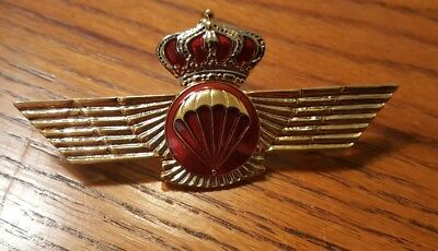 Spain Spanish Jump Para Wings Parachute Parachutist Qualification Badge