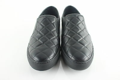 NWT $925 Balmain Paris Mens Black Quilted Slip-On Sneakers Size 8