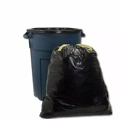 50 Large 55 Gallon Commercial Trash Can Bags Heavy Garbage Duty Yard FREE SHIPP