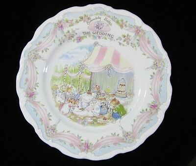 "Brambly Hedge Royal Doulton Luncheon Plate 8""  THE WEDDING Jill Barklem"