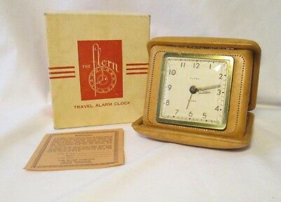 Vintage Florn Travel Alarm Clock w/Box USA Made