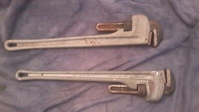 Ridgid 824 3 in. Capacity 24 in. Aluminum Straight Pipe Wrench 31105 TWO  USED