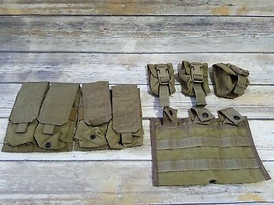 Eagle Industries Lot Of 6 Khaki Pouches Double Mag Grenade Triple Mag