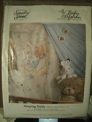 Something Special-Counted Cross Stitch Baby Afghan-Sleeping Teddy-Never Opened!!