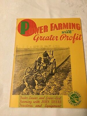John Deere Power Farming With Greater Profit Book 1837-1937
