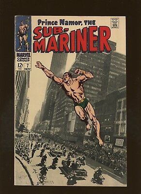 Sub-Mariner 7 VF 8.0 * 1 Book Lot * 3rd Tiger Shark! Roy Thomas & John Buscema!