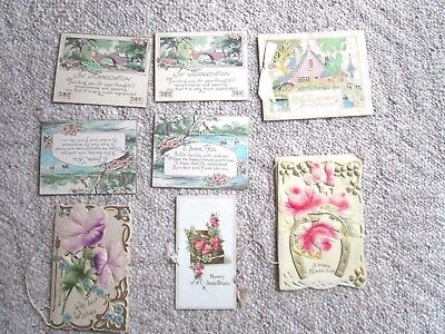 Lot of Vintage Art Deco Early 1900s Birthday Wedding Greeting Cards and Booklets