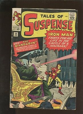 Tales of Suspense 50 VG+ 4.5 * 1 Book * 1st Mandarin! The Watcher! Lee & Kirby!