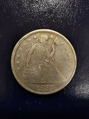 1855-P Seated Liberty One Dollar, Raw and Ungraded, Rare and Collectible