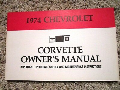 owner operator manuals car truck manuals manuals literature rh picclick com 1974 corvette owners manual free download 1974 corvette owners manual free download