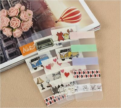 5Pcs - Washi Tape Sample Supplies Matte Plastic Card - 5Cm X 15Cm