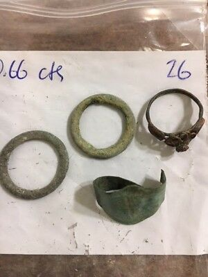 old Ancient Roman Bronze Ring, 100-300 AD  Celtic ring money medieval ring lot