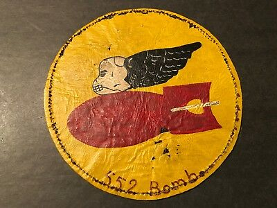 WW2 WWii USAF US AIR FORCE PATCH-552d Fighter-Bomber Squadron-ORIGINAL-LEATHER!