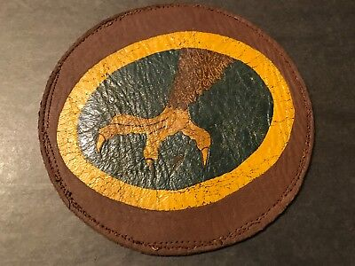 WW2 WWii USAF US AIR FORCE PATCH-33rd Fighter Squadron-ORIGINAL-LEATHER! BEAUTY!