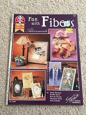 "Can Do Crafts ""Fun with FIbers"" Adornments Instruction Book, Suzanne McNeill"