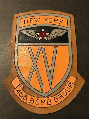 WW2 WWii USAF US AIR FORCE PATCH-485th Bomber Squadron-ORIGINAL! LEATHER BEAUTY!