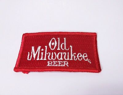 Vintage Old Milwaukee Beer Red Distributor Cloth Patch 1980s NOS New
