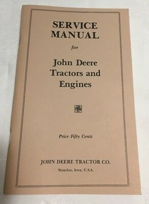 JOHN DEERE Service Manual for Tractors and Engines