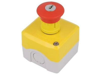 XALK188E Switch emergency stop with key 2-position NC + NO 22mm red SCHNEIDERS