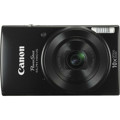 Canon Powershot ELPH 190 IS 20.0MP 10x Oprical Zoom Digital Camera - Black