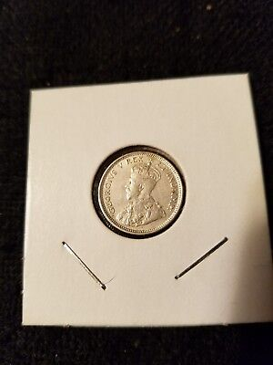 1920 East Africa 25 Cents Silver King George V Xf/au Km# 10