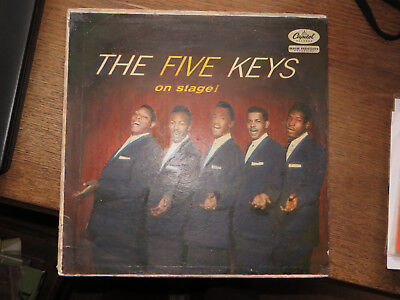 """The Five Keys On Stage """"Finger Cover"""" Capitol T 828"""